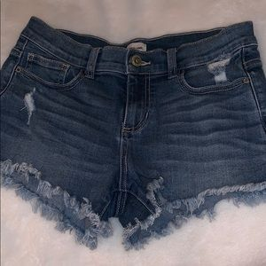 Sneak Peak ripped jean shorts